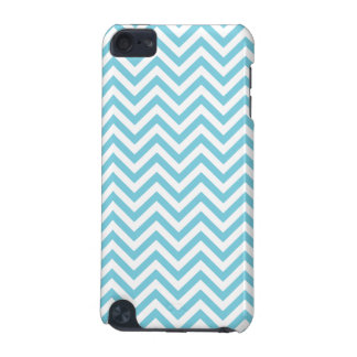 Blue and White Zigzag Stripes Chevron Pattern iPod Touch (5th Generation) Case