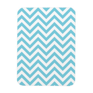 Blue and White Zigzag Stripes Chevron Pattern Magnet