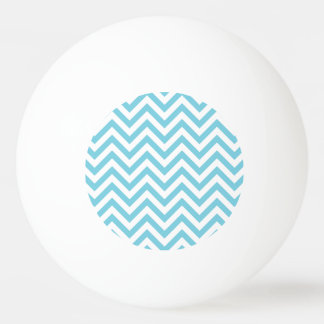 Blue and White Zigzag Stripes Chevron Pattern Ping Pong Ball