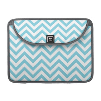 Blue and White Zigzag Stripes Chevron Pattern Sleeve For MacBooks