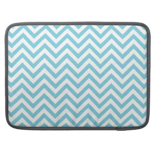 Blue and White Zigzag Stripes Chevron Pattern Sleeves For MacBook Pro