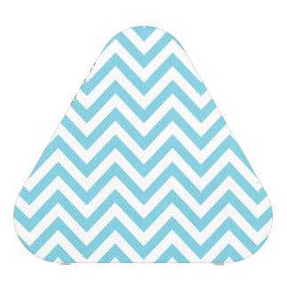 Blue and White Zigzag Stripes Chevron Pattern Speaker