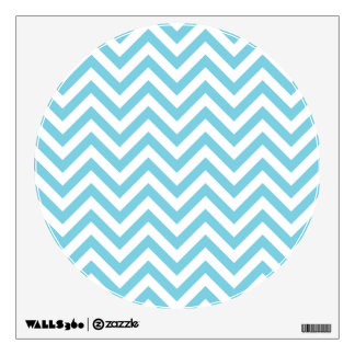 Blue and White Zigzag Stripes Chevron Pattern Wall Decal