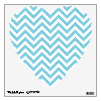 Blue and White Zigzag Stripes Chevron Pattern Wall Sticker
