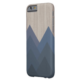 Blue and Wood Geometric Mountain Case