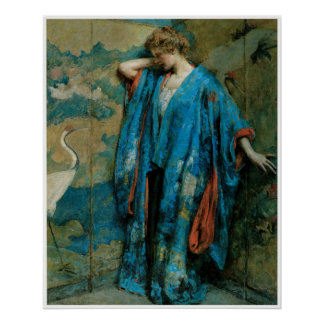 Blue and Yellow, 1910, Robert Reid Poster