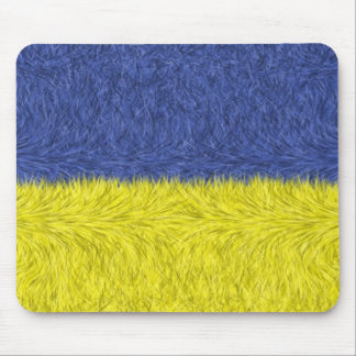Blue and yellow abstract pattern mouse pads