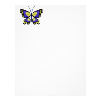 Blue and Yellow Butterfly Letterhead