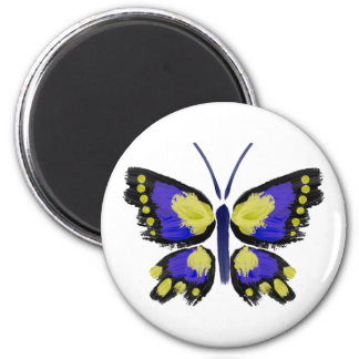 Blue and Yellow Butterfly Magnet