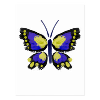 Blue and Yellow Butterfly Postcard