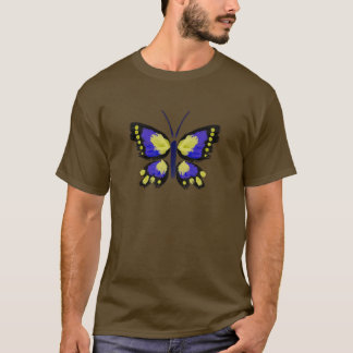 Blue and Yellow Butterfly T-Shirt