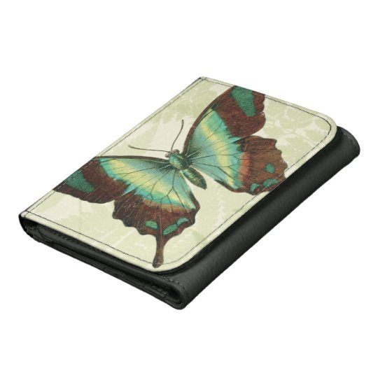 Blue and Yellow Butterfly Wallet