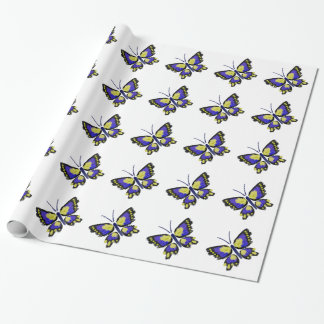 Blue and Yellow Butterfly Wrapping Paper