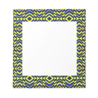 Blue and Yellow Chevron Pattern Notepad
