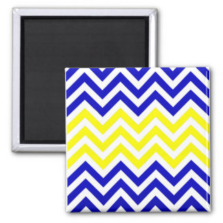 Blue and Yellow Chevrons Pattern magnet