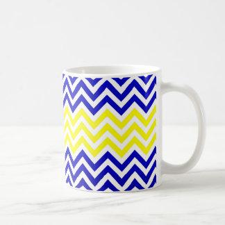 Blue and Yellow Chevrons Pattern Mug