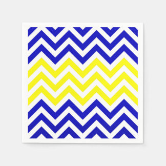 Blue and Yellow Chevrons Pattern napkins Paper Napkin