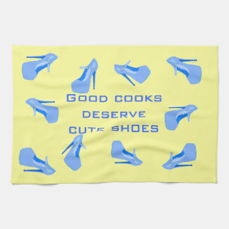 Blue and Yellow Cute Shoes Kitchen Towel