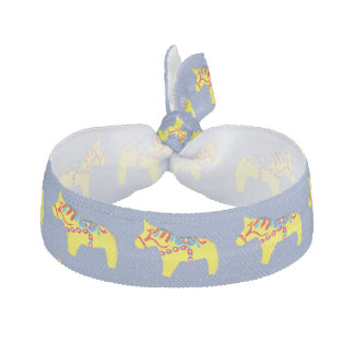 Blue and Yellow Dala Horses Hair Tie