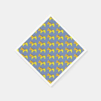 Blue and Yellow Dala Horses Napkin