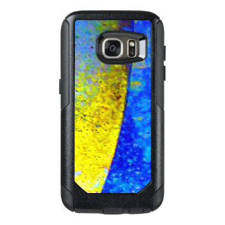 Blue and Yellow Eclipse OtterBox Samsung Galaxy S7 Case