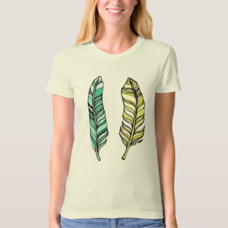 Blue and Yellow Feathers T-Shirt