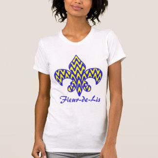 Blue and Yellow Fleur de lis T Shirts