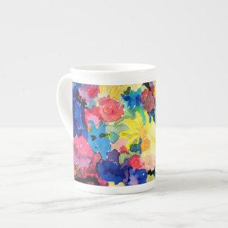 Blue and Yellow Floral Mug