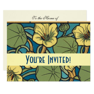 Blue and Yellow Floral Pattern Card