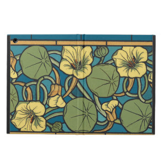 Blue and Yellow Floral Pattern Cover For iPad Air