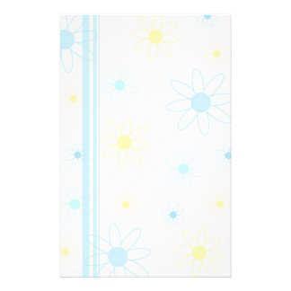 Blue and Yellow Flowers Stationery