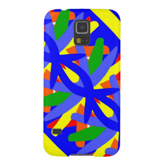 Blue and Yellow Galaxy S5 Cover