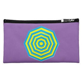 Blue and Yellow Hexagon Makeup Bags