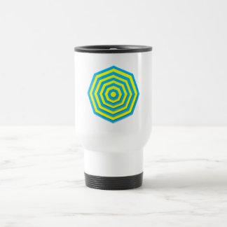 Blue and Yellow Hexagon Travel Mug