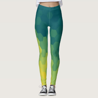 blue and yellow hives leggings