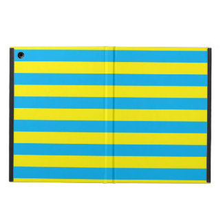 Blue and Yellow Horizontal Stripes Cover For iPad Air