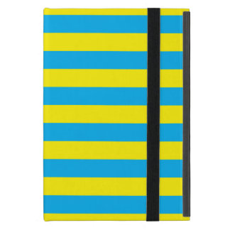 Blue and Yellow Horizontal Stripes Cover For iPad Mini