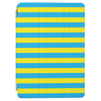Blue and Yellow Horizontal Stripes iPad Air Cover