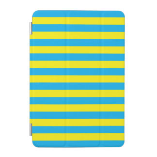 Blue and Yellow Horizontal Stripes iPad Mini Cover