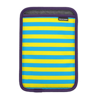 Blue and Yellow Horizontal Stripes iPad Mini Sleeve