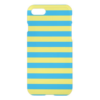 Blue and Yellow Horizontal Stripes iPhone 8/7 Case