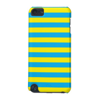Blue and Yellow Horizontal Stripes iPod Touch (5th Generation) Cases