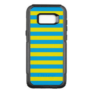 Blue and Yellow Horizontal Stripes OtterBox Commuter Samsung Galaxy S8+ Case