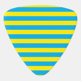 Blue and Yellow Horizontal Stripes Pick