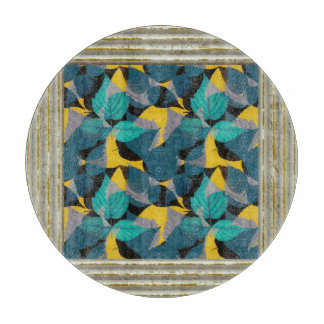 Blue And Yellow Leaf Pattern Boards