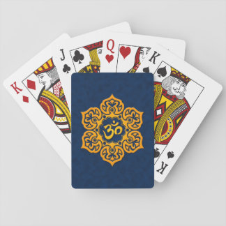 Blue and Yellow Lotus Flower Om Card Deck
