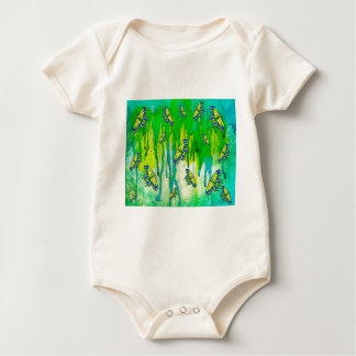 BLUE AND YELLOW MAKES GREEN BABY BODYSUIT