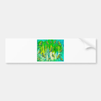 BLUE AND YELLOW MAKES GREEN BUMPER STICKER