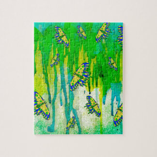 BLUE AND YELLOW MAKES GREEN JIGSAW PUZZLE
