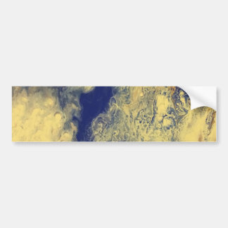 Blue and Yellow Marble Bumper Sticker